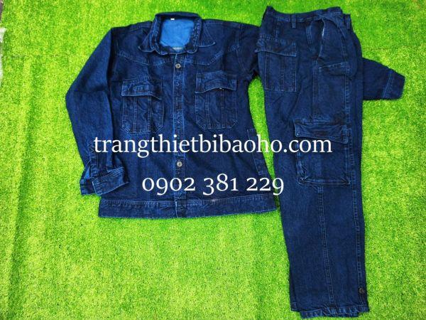 Quần áo jeans thợ hàn, điện lực vải cao cấp túi hộp vải đẹp mát - đủ size