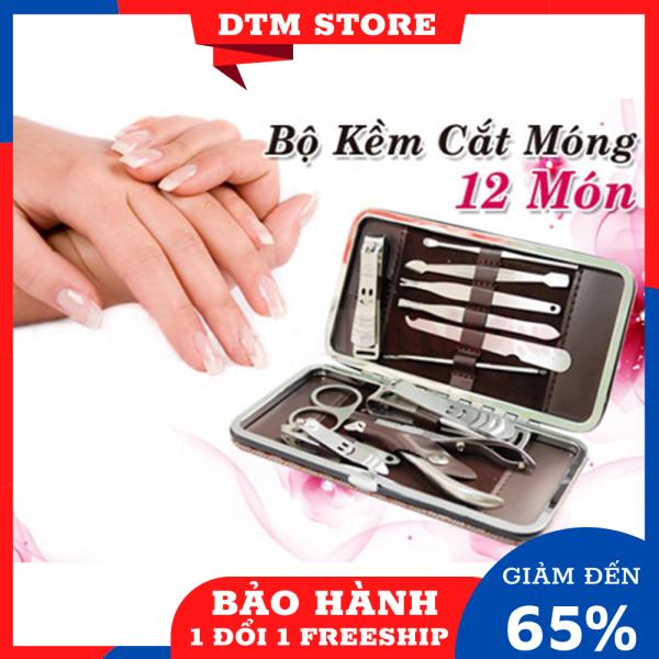 Bộ bấm móng tay 12 món DTM, dụng cụ bấm móng tay, kiềm cắt móng cao cấp bằng thép không gỉ kèm hộp - DTM Store giá rẻ
