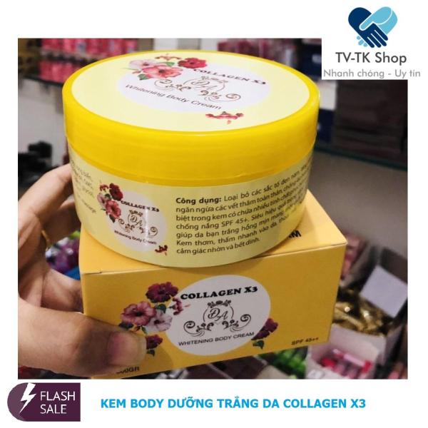 [HCM]Kem Body Dưỡng Trắng Da Collagen X3  (Hộp 300 gram)