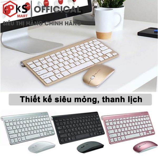 Bảng giá Bàn Phím và Chuột Không Dây W202 Chống Thấm Nước 2.4G Dùng Cho Laptop, Máy Tính PC, Smart TV Phong Vũ