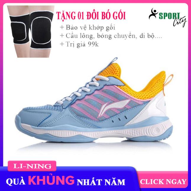 Giày cầu lông nữ Lining AYTQ028-2 mẫu mới, đế cao su già đàn hồi chống trơn trượt-giày thể thao nữ-giày bóng chuyền nữ giá rẻ
