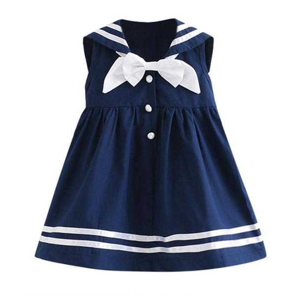 Giá bán Đầm thủy thủ xinh xắn cho bé gái 3-8 tuổi BBShine– D007