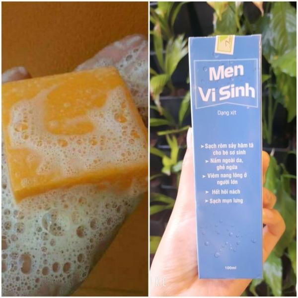 COMBO SOAP NGHỆ THAI LAN VÀ MEN VI SINH TAVIDA DỨT ĐIỂM MỤN LƯNG  chỉ sau một liệu trình 7-14 ngày tùy mức độ nặng hay nhẹ-dùng theo hướng dẫn của người bán để da nhanh đẹp