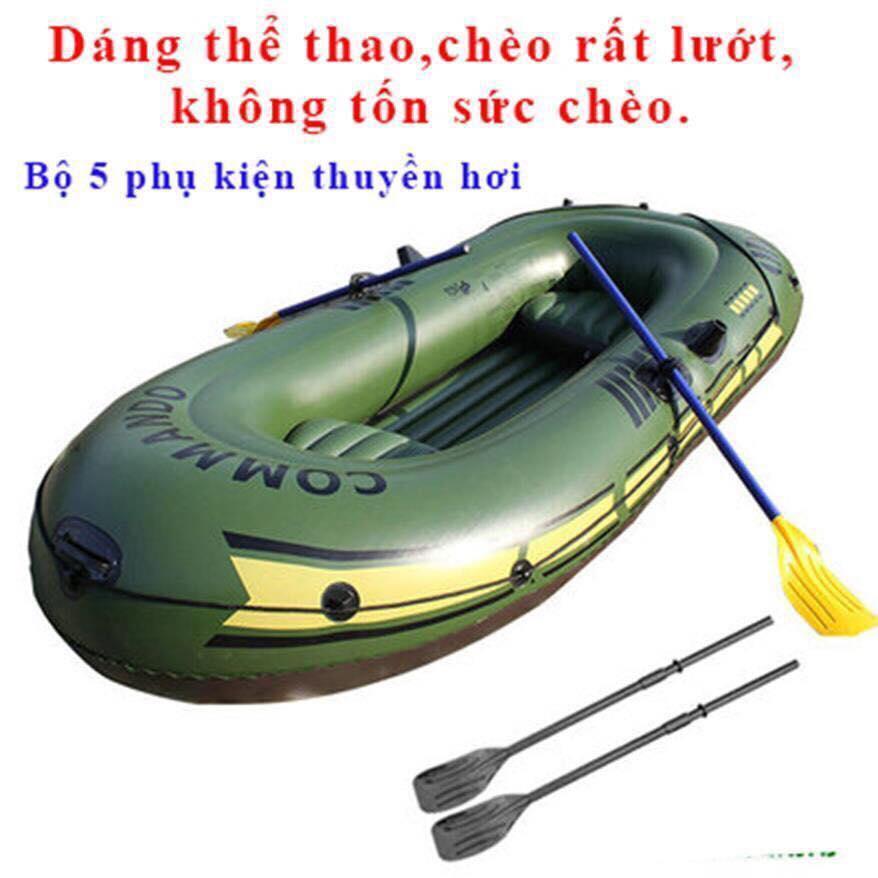Xuồng Bơm Hơi Câu Cá Dã Ngoại Cho 4 Người- Thuyền Hơi Du Lịch- Xuồng Hơi Chống Ngập Lụt Mùa Mưa Bão Nhật Bản