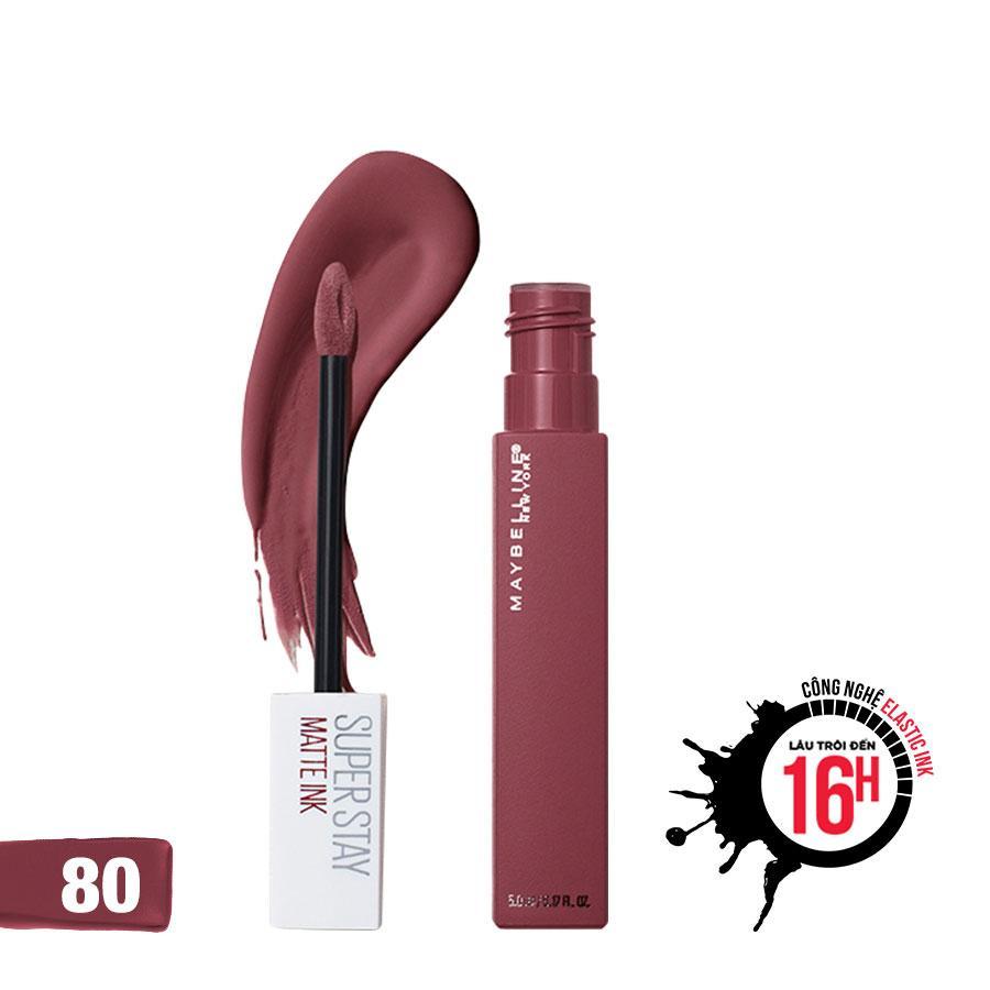 Son Kem Chuẩn Lì Giữ Màu 16h Maybelline New York Super Stay Matte Ink 5ml nhập khẩu