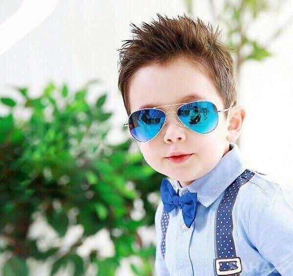 Giá bán Tặng bao da và khăn lau - Mắt Kính Em Bé Trẻ Em Pilot, Thời trang cho Bé Trai Bé Gái