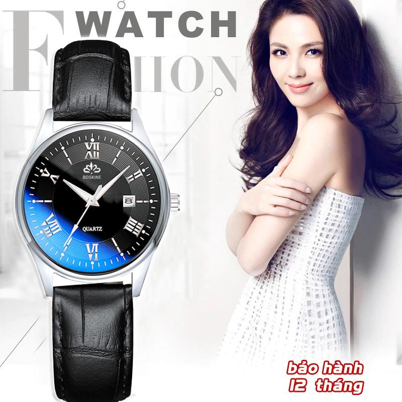 (Màu đen) Đồng hồ nữ BOSKINE BESTHCHR Máy Nhật Bản Siêu Bền, Đồng Hồ Nữ Đẹp Cao Cấp, Đồng Hồ Nữ Chính Hãng, Đồng Hồ Nữ Đẹp, Đồng Hồ Nữ Chống Nước, Bảo Hành Toàn Quốc 12 Tháng