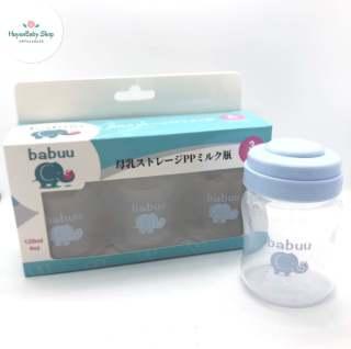 Bộ 3 bình trữ sữa Babuu Nhật Bản 120ml thumbnail