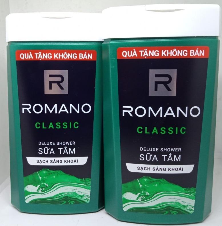 Bộ 2 Chai Sữa Tắm Hương Nước Hoa Nam Romano 150g Hàng Khuyền Mãi nhập khẩu