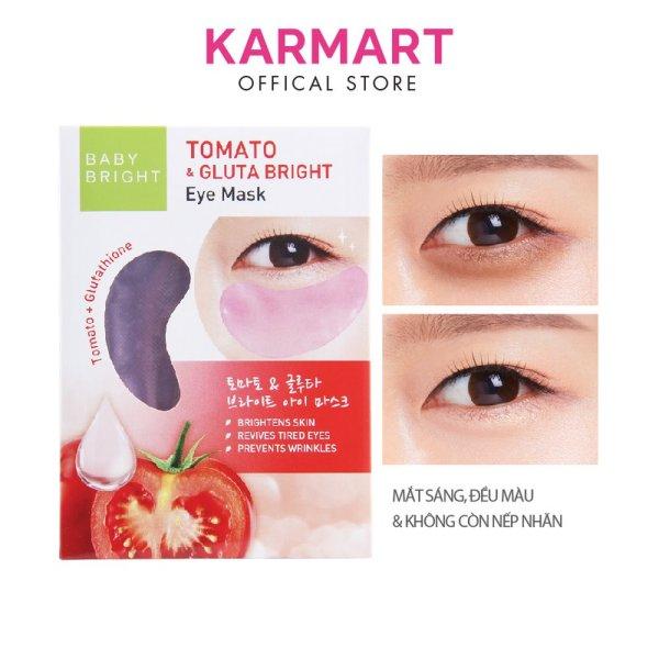 Mặt Nạ Dưỡng Sáng Da Mắt Cà Chua Và Gluta Baby Bright Tomato & Gluta Eye Mask 5g ( 2 miếng ) giá rẻ