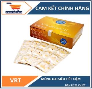 Bao cao su giá rẻ dành cho gia đình VRT Excellent - 20 chiếc thumbnail