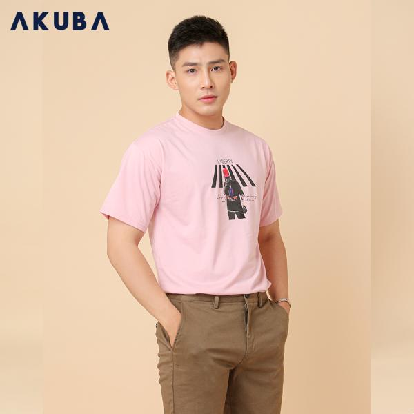 AKUBA Áo Thun Nam Tay Ngắn Free Size 01J653