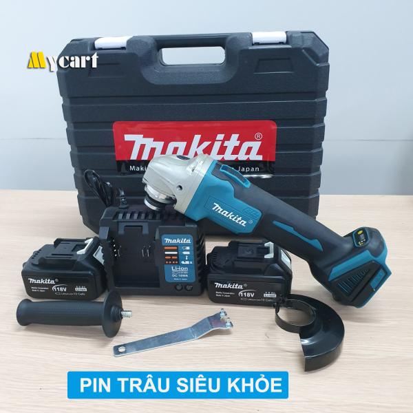 Máy cắt cầm tay MAKITA 118V, Máy mài góc, Máy cắt pin, 02 pin 10 cell, không chổi than