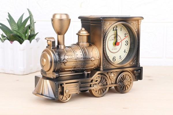 Nơi bán Đồng Hồ Để Bàn, Báo thức Hình Xe lửa , Tàu hỏa - Tặng kèm 1 Pin (Màu vàng)