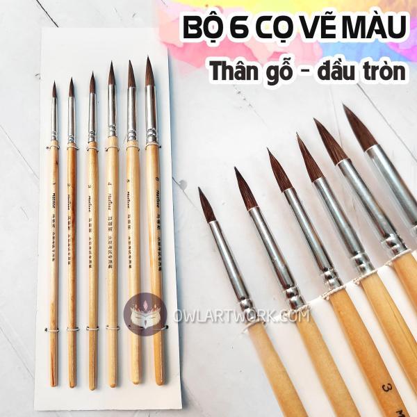 Mua Bộ 6 Cây Cọ Matisse Vẽ Màu Nước, Acrylic, Gouache