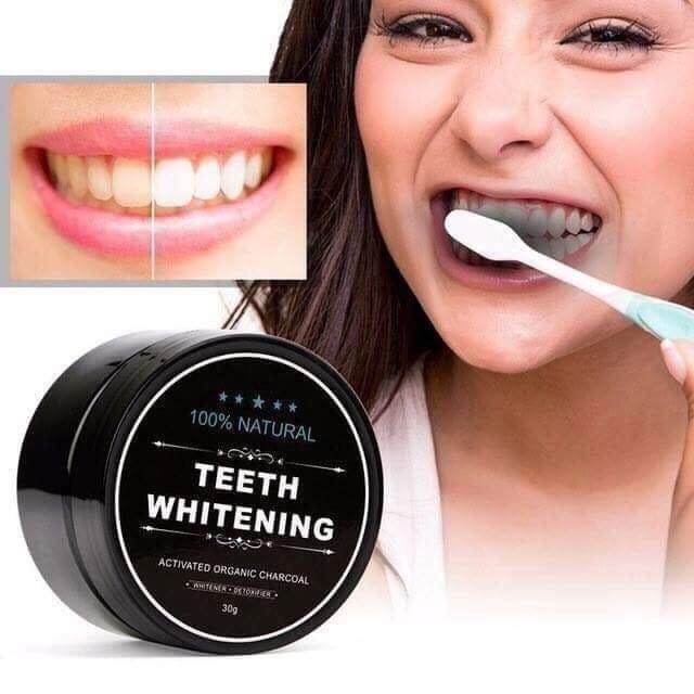 [MUA 2 TẶNG 1] Bột Trắng Răng Than Tre Hoạt Tính Teet Whitening (1 HỘP) nhập khẩu