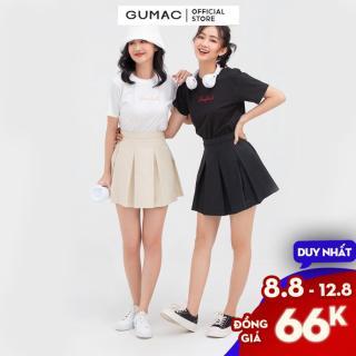 [CHỈ 8.8-GIẢM 25K CHO ĐƠN 50K] Áo thun nữ cổ tròn mẫu mới GUMAC ATB813 thumbnail
