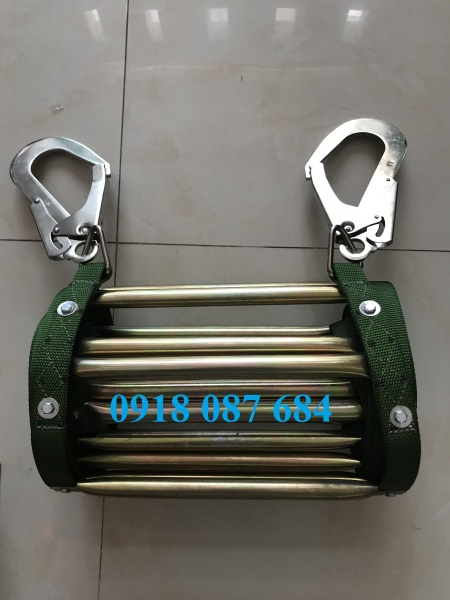 Thang dây thoát hiểm ống đồng 5m (bao gồm cặp móc)