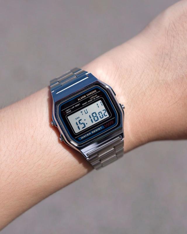 Đồng hồ nam A158 full box điện tử máy Nhật chống nước siêu đẹp - Đồng hồ - đồng hồ unisex - đồng hồ thời trang - đồng hồ phong cách - a158 unisex