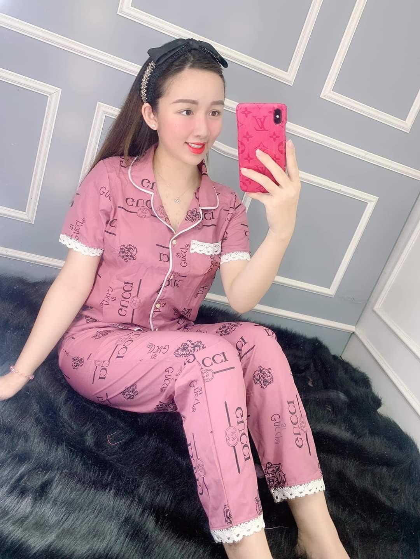 Đồ Bộ Pijama Tay Ngắn Quần Dài Vải Kate Lụa Mềm Mịn Viền Bèo Siêu Xinh 43-56kg CAM KẾT GIAO ĐÚNG MẪU Tại Dieuthanhstore Giá Sốc Nên Mua
