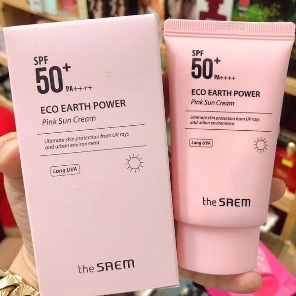 Kem Chống Nắng The Seam Eco Earth Power Pink (SPF 50+/PA)++++