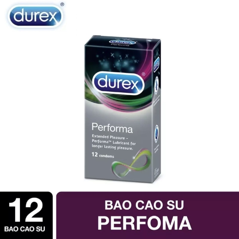 Bao cao su Durex Performa kéo dài thời gian quan hệ 12s 💝 Che tên sản phẩm 💝