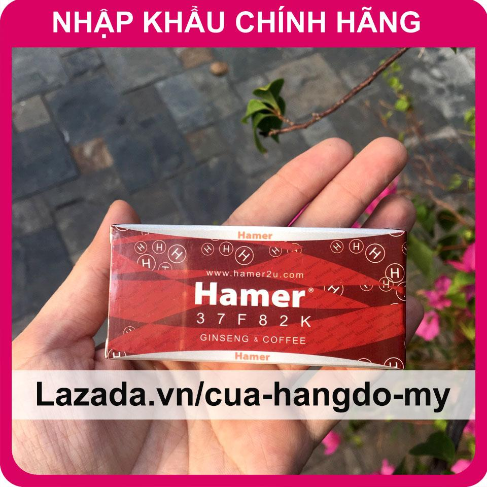 Kẹo Hamer Ginseng & Coffee Kẹo Sâm Cho Nam Giới tăng cường sức khỏe 1 hộp 5 viên cao cấp