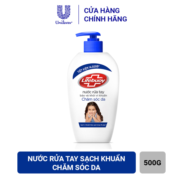 Nước Rửa Tay Sạch Khuẩn Lifebuoy Chăm Sóc Da (Chai 500g) giá rẻ