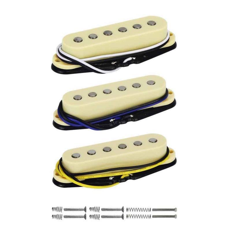 3Pcs/Set Alnico 5 Single Coil Pickup Electric Guitar Pickup Neck/Middle/Bridge 48/50/52Mm