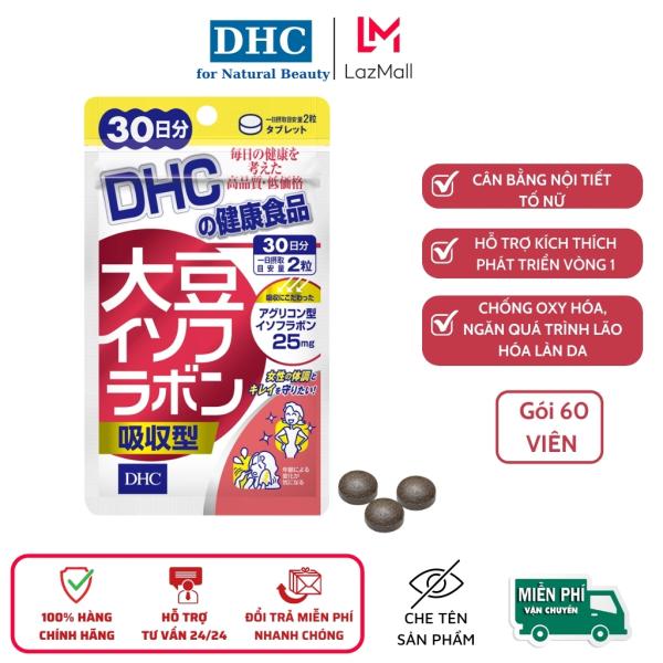 Viên uống mầm đậu nành DHC Soy Isoflavone Absorption Type Nhật Bản, gói 60 viên