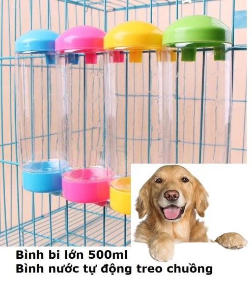 HN-SP168 - Bình treo chuồng sản phẩm mới ( size lớn 500ml) bình cấp nước chó mèo tự động