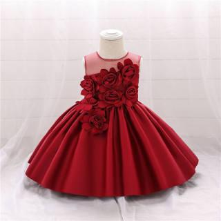 MINI Sinh Nhật Lần Thứ Nhất Bé Gái Bowknot Tulle Váy Làm Bằng Vải Ren Cho Trẻ Em Bé Gái Sinh Nhật Đám Cưới Hoa Cô Gái Đầm Dự Tiệc