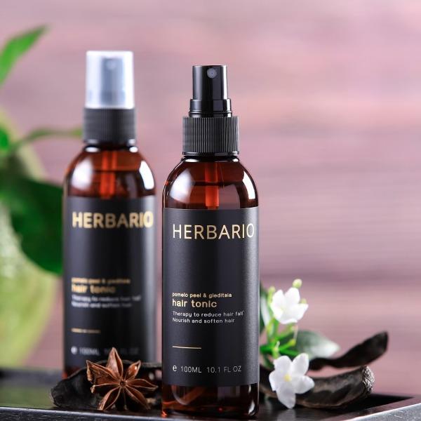 Nước dưỡng tóc tinh vỏ Dầu Bưởi và Bồ Kết Herbario - giảm rụng tóc, giúp tóc chắc khỏe, làm mềm tóc