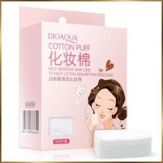 Bông Tẩy Trang Bioaqua 100 miếng mỏng - bông tẩy trang Bioaqua thumbnail