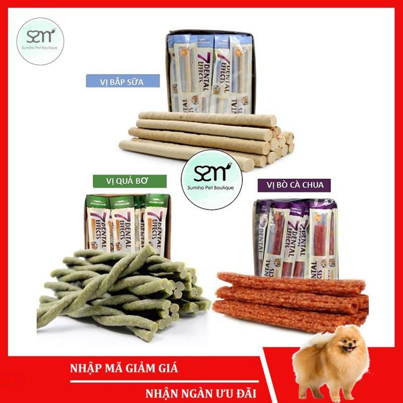 Xương gặm sạch răng thơm miệng cho cún cưng 7 Dental Effects (Nhiều vị) (15g/cây) xương thưởng bánh thưởng cho chó