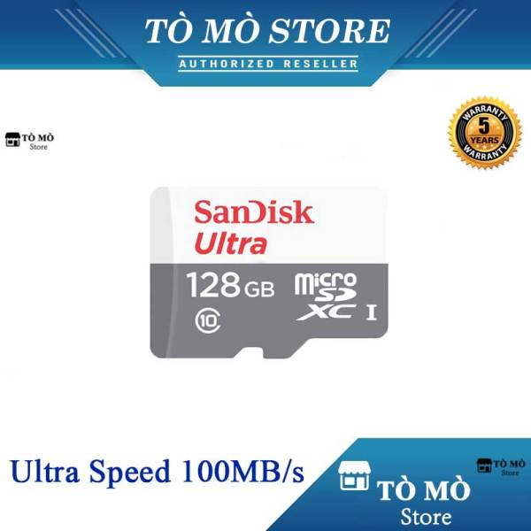 Thẻ nhớ MicroSDXC SanDisk Ultra 128GB 100MB/s - Bảo Hành 5 Năm