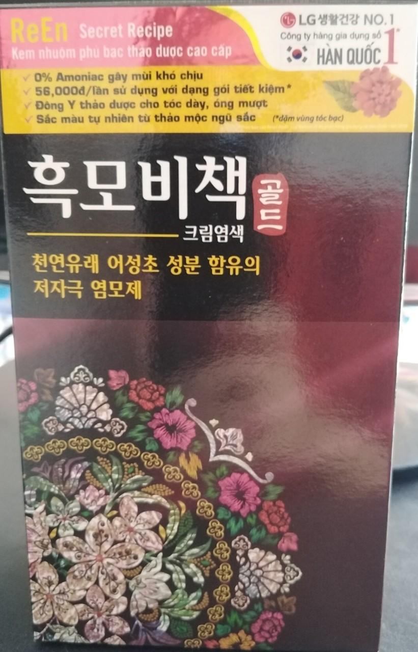 Nhuộm phủ bạc thảo dược cao cấp Re-En của Hàn Quốc