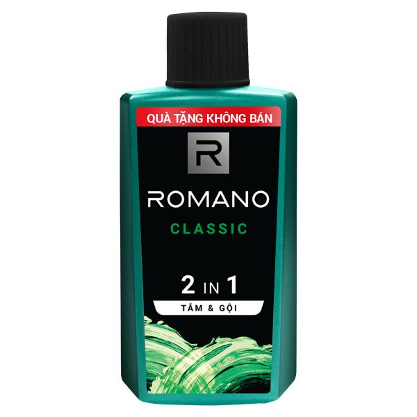 [Quà tặng không bán] Tắm gội 2in1 Romano Classic/Force 60g - giao mùi ngẫu nhiên
