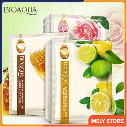 Combo 5 Mặt nạ giấy dưỡng da Mix Chanh, Hoa hồng, Mật ong dưỡng da BIOAQUA, Mặt nạ dưỡng da, Mặt nạ dưỡng ẩm - SPU072 cao cấp