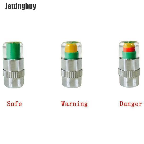 Jettingbuy 4X Chỉ Báo Áp Suất Lốp Xe Ô Tô Cảnh Báo Tpms Giám Sát Cảm Biến Nắp Van