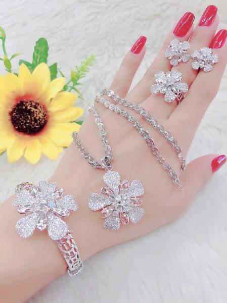 Bộ Trang Sức Cao Cấp Xi Vàng - Givishop - B4170577, Bền Màu, Sáng Như Vàng Thật, Chất Liệu Bạc Thái, Không Đen, Không Ngứa - Thiết Kế Đi Tiệc, các mẫu trang sức bằng bạc, trang sức bạc nam cao cấp, nữ trang bạc cao cấp