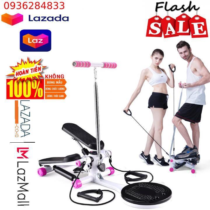 Bảng giá Máy đi bộ - Máy đi bộ loại cao cấp tặng kèm dây cáp co dãn + bàn xoay eo + dây lò xo đàn hồi