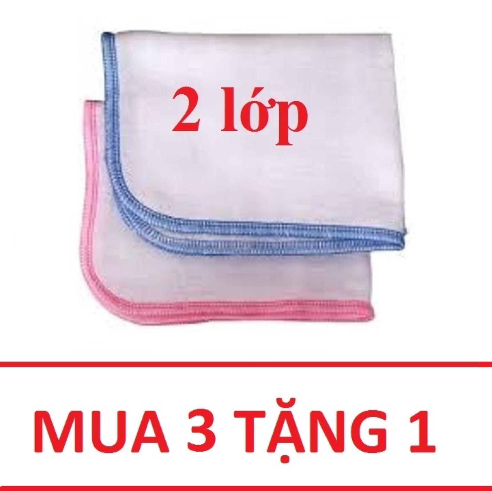 (MUA 3 TẶNG 1) 10 chiếc khăn xô sữa, khăn...