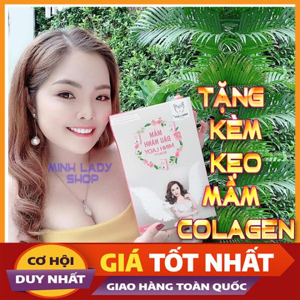 [MUA 1 TẶNG 1] Mầm Đậu Nành Minh Lady Tăng Vòng 1, tặng kèm 1 hộp viên mầm colagen, cải thiện nội tiết tố, săn chắc , chống chảy xệ vòng 1