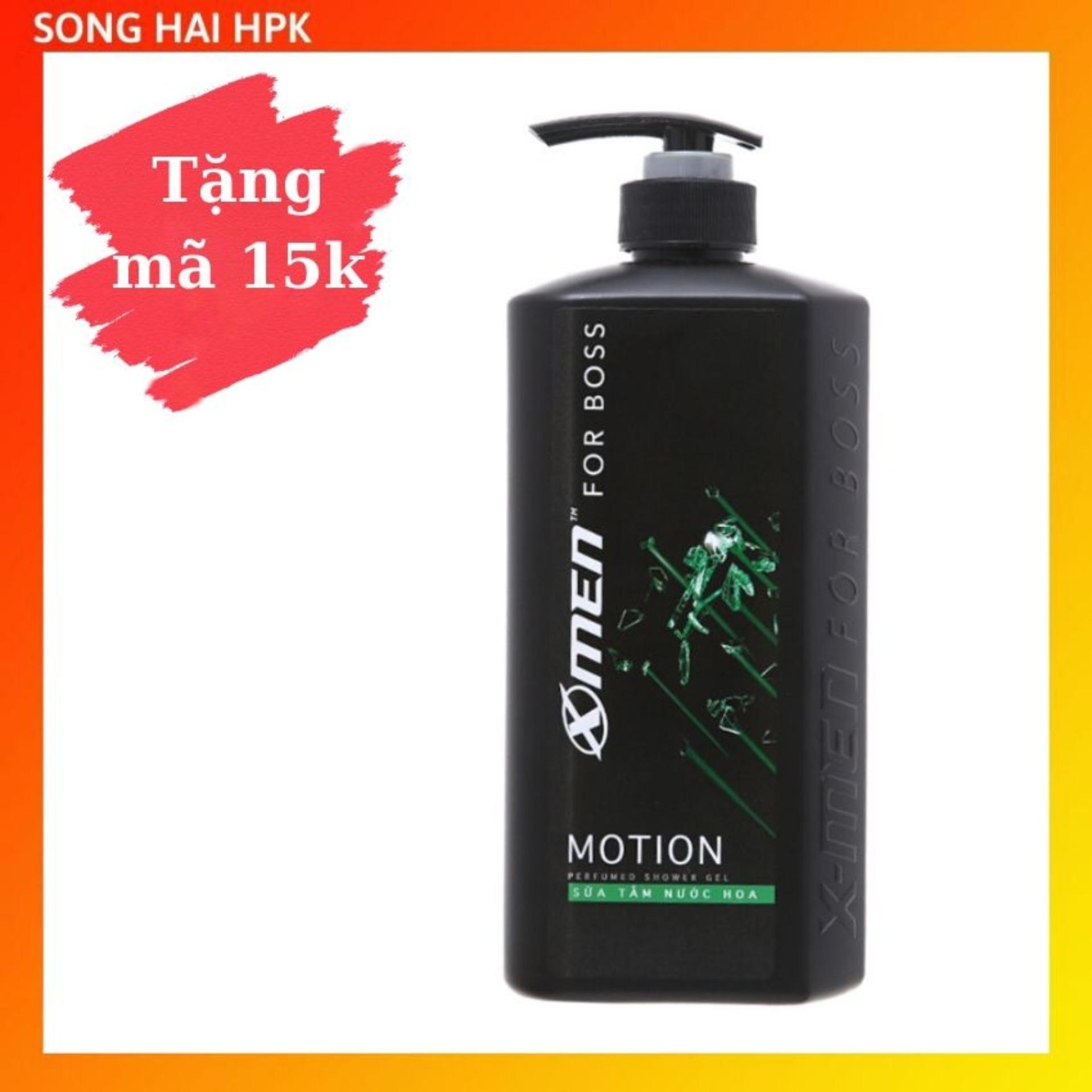 Sữa tắm nước hoa X-Men For Boss Motion - Hương thơm năng động và phóng khoáng 650g Songhaihpk nhập khẩu