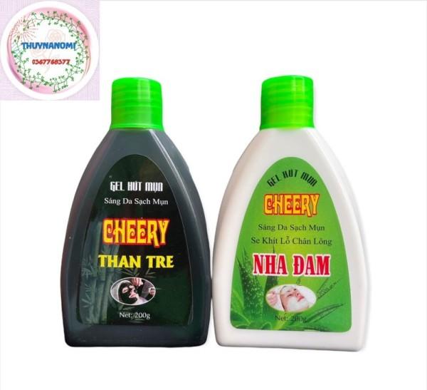 [Giá sốc] Keo (gel) lột mụn CHEERY 200gr than tre và nha đam, hút sạch mụn, không gây kích ứng da, khô nhanh