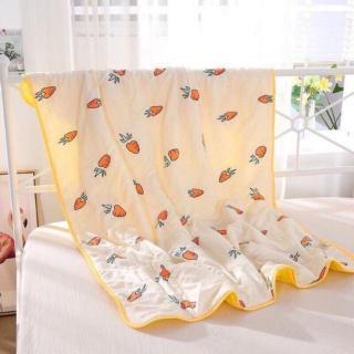 Chăn mền đũi mùa hè trẻ em cực tốt cho bé đa dạng họa tiết hoạt hình cho bé yêu( giao màu ngẫu nhiên ) thumbnail