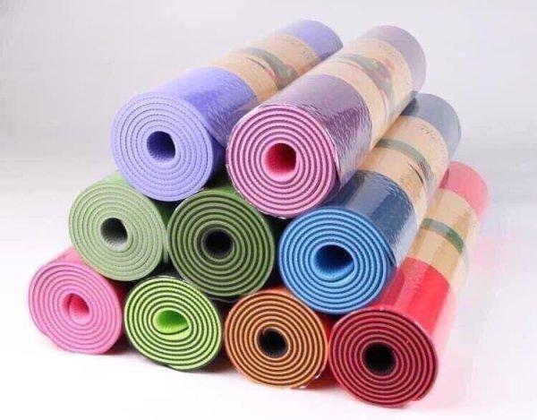 Thảm Tập Gym 6mm, Yoga Chất Liệu TPE 2 Lớp , Bám Chống Trơn