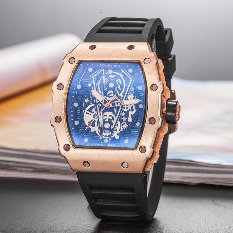 RICHARD MILLE_Rolex Brand Watch Leather Men Watches Quartz Wristwatches Male Quartz-watch bán chạy