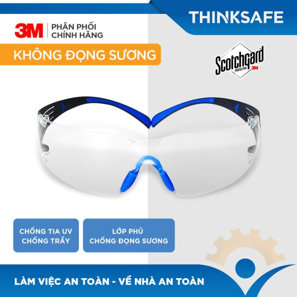 Kính Bảo Hộ 3M SF401SGAF kính chống giọt bắn, chống bụi, Chống tia UV, mắt kính đi xe máy, lao động, phòng dịch - Thinksafe